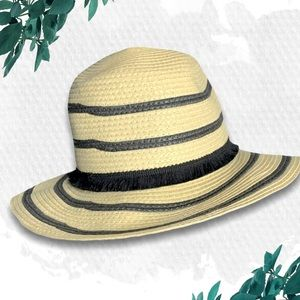 ⚡️Express Striped Straw Hat with Fringe Band